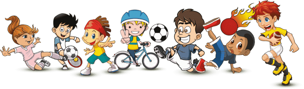 Cartoon Characters Playing Sports : Pe support for schools lesson cover teacher